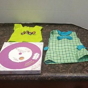 American Girl Activity Box, Dress and Top.